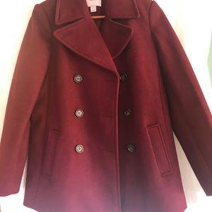 Beautiful pea coat burgundy or wine color